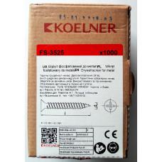 Саморез 3,5х25 по металлу 1000 шт Коельнер (красная пачка)