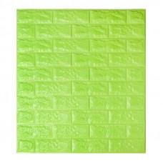 Самоклеющаяся декоративная 3D панель под зеленый кирпич Bena