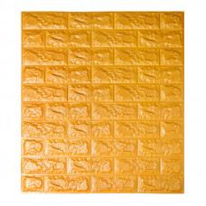 Самоклеющаяся декоративная 3D панель под золотой кирпич Bena