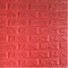 Самоклеющаяся декоративная 3D панель под красный кирпич Bena