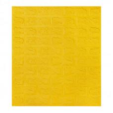 Самоклеющаяся декоративная 3D панель под желтый кирпич Bena