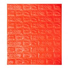 Самоклеющаяся декоративная 3D панель под оранжевый кирпич Bena