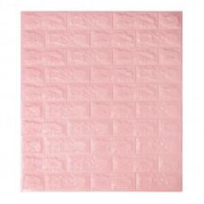 Самоклеющаяся декоративная 3D панель под розовый кирпич Bena
