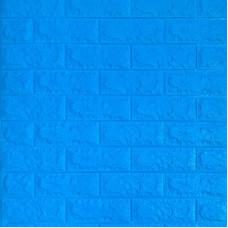 Самоклеющаяся декоративная 3D панель под синий кирпич Bena