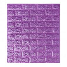 Самоклеющаяся декоративная 3D панель под фиолетовый кирпич Bena