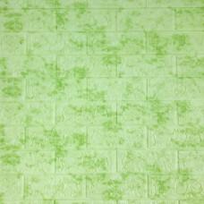 Самоклеющаяся декоративная 3D панель под кирпич зеленый мрамор Bena