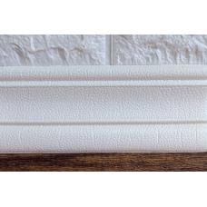 Гибкий самоклеющийся плинтус (багет для 3D панелей рулон) Bena 2350х80 мм белый