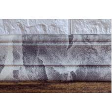 Гибкий самоклеющийся плинтус (багет для 3D панелей рулон) Bena 2350х80 мм мрамор черный