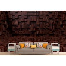 Фотообои 3Д абстракция в темно-коричневых тонах