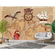Фотообои пиратская карта