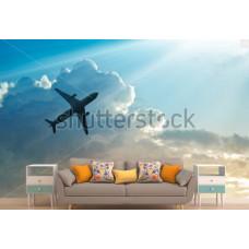 Фотообои Самолёт, небо