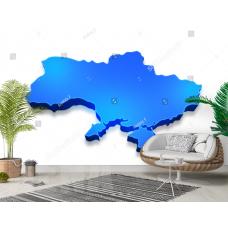 Фотообои 3Д карта Украины