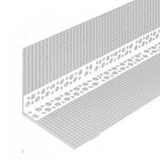 Профиль угловой перфорированный с СЕТКОЙ ПЛАСТИКОВЫЙ 7х7, 3 м Алви