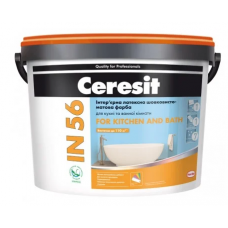 Краска CERESIT IN-56 FOR KITCHEN & BATH База С 10 л