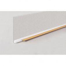 Профиль оконный примыкающий с СЕТКОЙ 2.5 м 6 мм
