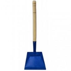 Совок для мусора металлический, деревянная ручка 440 мм