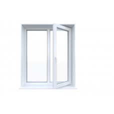 Металлопластиковое окно Bena двухстворчатое поворотно-откидное 1280 х 1400 мм Белый (S300IKJHFBYTD)