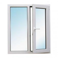 Окно пластиковое Bena B58 двустворчатое, одна часть поворотно-откидная (1300х1400), белое