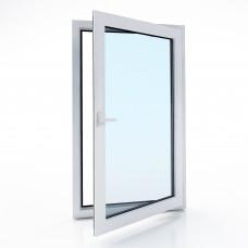 Окно металлопластиковое Bena B58 одностворчатое поворотно-откидное (800х1100), белое