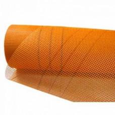Штукатурная сетка 160 г/м2 WORKS, Оранжевая 5ммх5мм, рулон 1м*50м