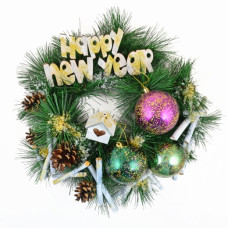 Венок BENA «Happy New Year» d-15 см