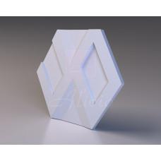 Декоративная гипсовая 3D панель Infinity Bena 63х55 см, 1 шт