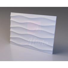 Декоративная гипсовая 3D панель Shallow Bena 100х70 см, 1 шт