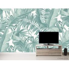 Фотообои Тропические листья бирюза