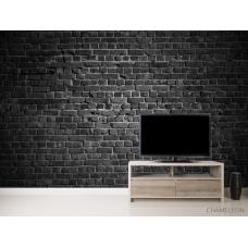 Фотообои Черная стена с кирпича
