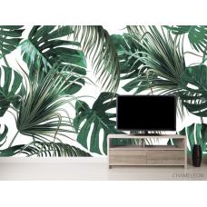 Фотообои Зелёные тропические листья