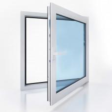 Окно металлопластиковое Bena B58 одностворчатое поворотно-откидное (800х800), белое